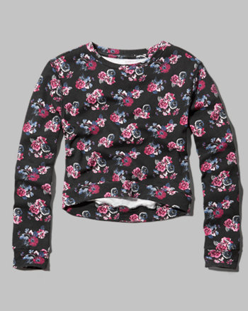 kids black floral sweatshirt