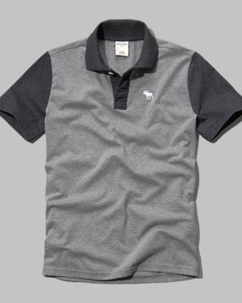 kids contrast sleeve polo