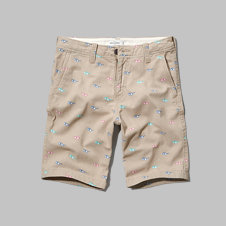 girls a&f classic fit printed shorts