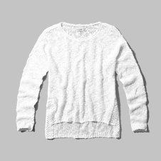 girls high-low hem sweater
