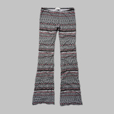 girls pattern flare pants