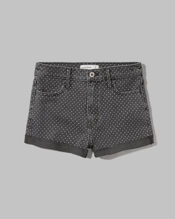 kids a&f high rise shorts