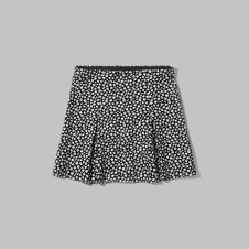 girls structured pleat ponte skirt