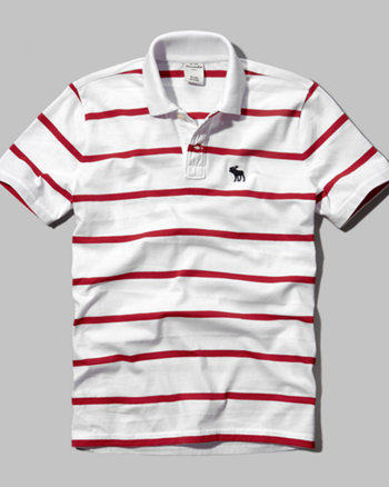 kids striped logo polo