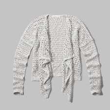 girls mesh knit drapey cardigan