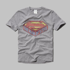 girls vintage man of steel graphic tee