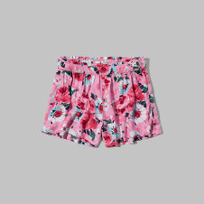 girls floral drapey shorts