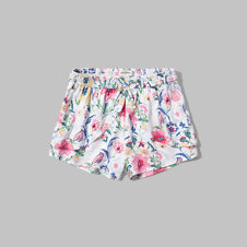 girls floral ruffle shorts