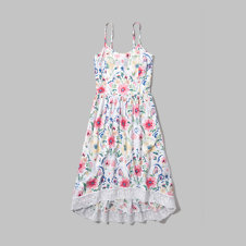 girls floral midi dress
