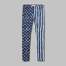 girls americana leggings