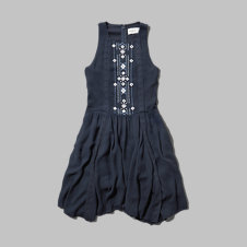 girls shine embellished skater dress