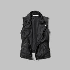 girls faux leather biker vest