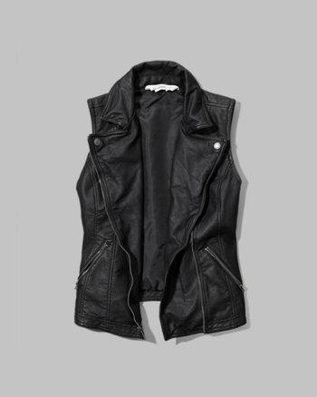 kids faux leather biker vest