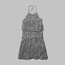 girls pleated two-tier dress