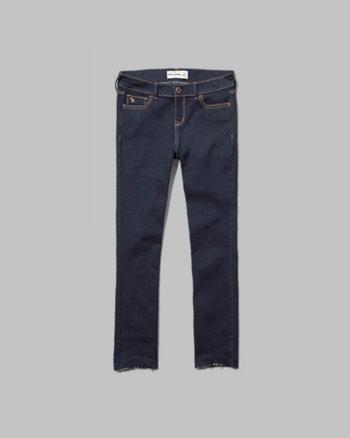 kids a&f cropped jeans