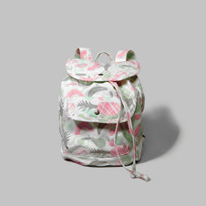girls pattern canvas drawstring backpack