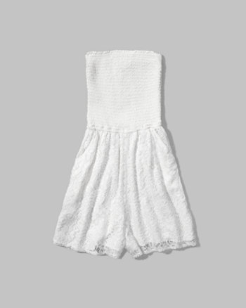 kids lace strapless romper