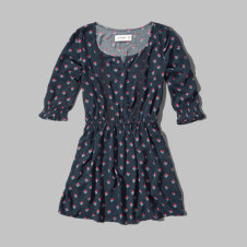 girls patterned peasant skater dress