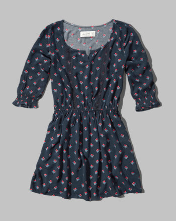 kids patterned peasant skater dress