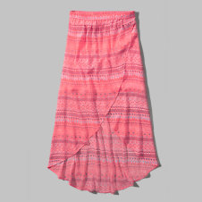 girls printed chiffon maxi skirt