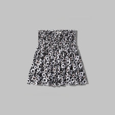 girls smocked skater skirt