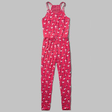 girls floral strappy jumpsuit