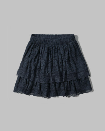 kids lace ruffle tier skirt