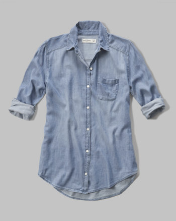 kids chambray long length shirt