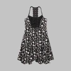 girls floral trapeze dress