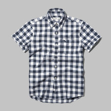 girls iconic short sleeve check shirt