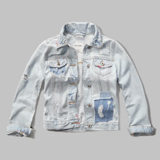 girls patchwork denim jacket