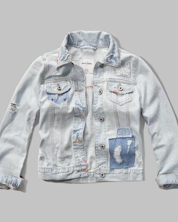 kids patchwork denim jacket