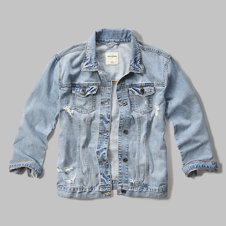 girls denim boyfriend jacket