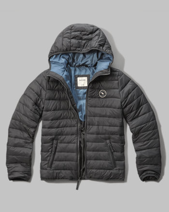 kids hooded lightweight puffer jacket