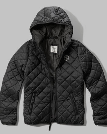 kids diamond quilted lightweight puffer jacket