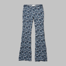 girls floral drapey flare pants