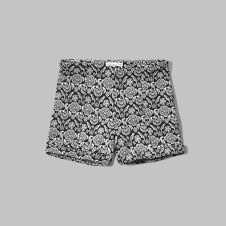 girls a&f patterned tap shorts