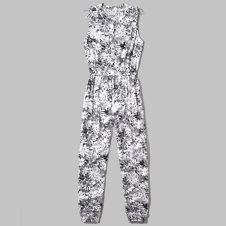 girls floral pattern rayon jumpsuit