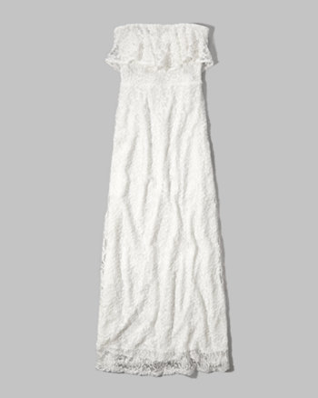 kids ruffle lace maxi dress
