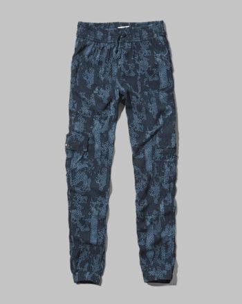 kids abstract pattern drapey pants