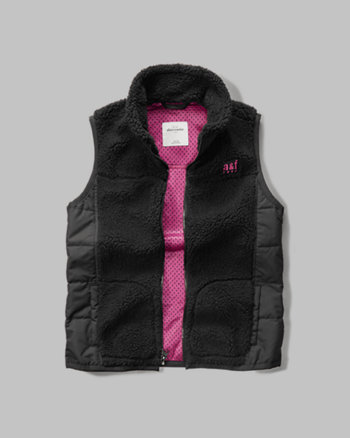kids quilted sherpa vest