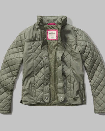 kids quilted nylon jacket