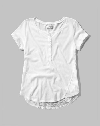 kids lace back henley