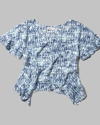 kids pattern drapey tee