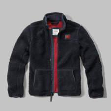 girls textured fleece jacket