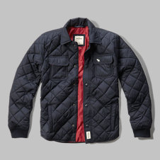 girls diamond quilted shirt jacket
