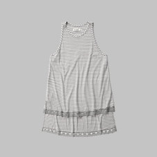 girls lace hem tank