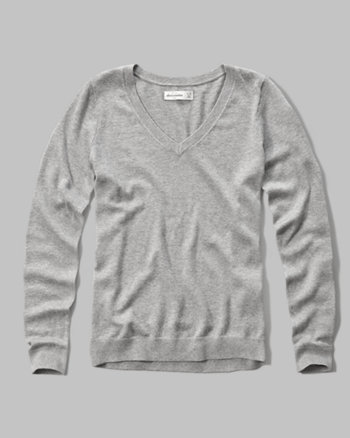 kids slim v neck sweater