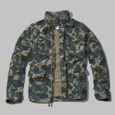 girls camo twill military jacket