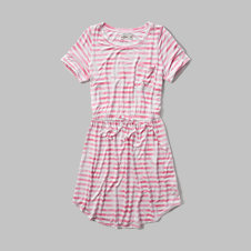 girls drapey t-shirt dress